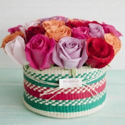 Canasto Toquilla Solo Rosas 2