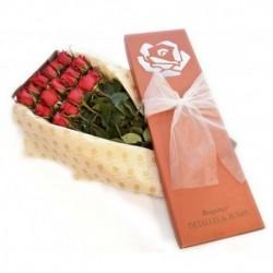 Caja Braganca Roja x 12 rosas