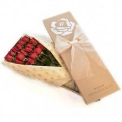 Caja Braganca Kraft x 24 rosas